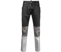 Slim-Fit-Jeans mit Einsätzen
