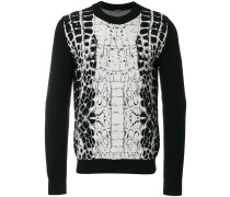 crocodile pattern jumper