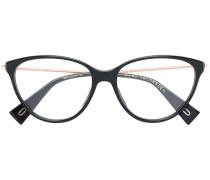 Cat-Eye-Brille mit verzierten Bügeln