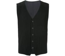 ribbed sleeveless waistcoat
