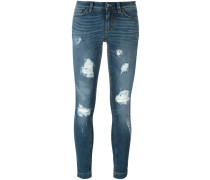 Skinny-Jeans in Distressed-Optik