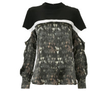 cut out printed T-shirt