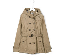 technical hooded trenchcoat