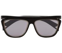 Eckige Sonnenbrille mit Kontrastdetails