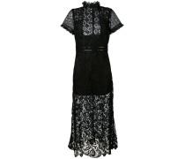 Kleid mit Lederborte - women - Polyester/Leder