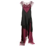 Asymmetrisches Kleid im Lingerie-Look