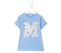 "T-Shirt mit floralem ""M""-Print - kids"