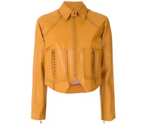 pointed leather jacket