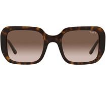 tortoiseshell-effect square-frame sunglasses