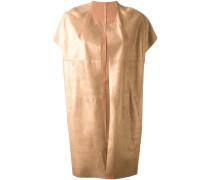 Metallisch glänzender Mantel mit kurzen Ärmeln