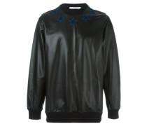 Lammnubukleder-Sweatshirt mit Sternen-Patches