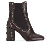eyelet detail ankle boots