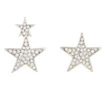 Asymmetrische Ohrringe mit Sternform