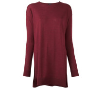 lateral slits knitted blouse