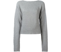 Cropped-Pullover mit Cut-Out