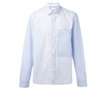 Gestreiftes Hemd mit Oversized-Tasche