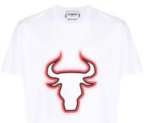 T-Shirt mit Stier-Print