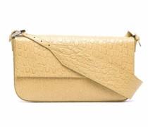 Manu crocodile-embossed shoulder bag