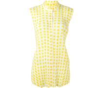 Gepunktetes Plisseehemd - women - Polyester - 4