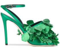 Sandalen mit Blattapplikation