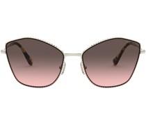 oversize-frame gradient sunglasses