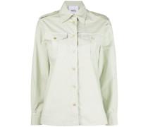 pointed collar cotton shirt