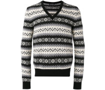 V-neck jumper - men - Kaschmir - S