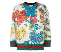 """Sweatshirt mit """"Corsage""""-Print"""