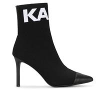 Sock-Boots mit Intarsienmuster