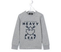 heavy leaf print sweatshirt