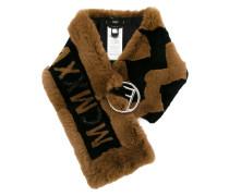 embellished MCMXXV fur scarf