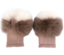 Handschuhe aus Kaschmir und Fuchspelz