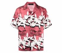 Seidenhemd mit Playboy Bunny-Print