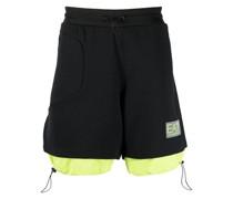 Joggingshorts im Layering-Look