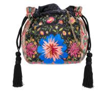 mixed print drawstring pouch bag