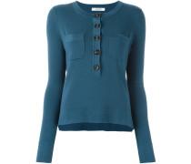three quarter button neck sweater