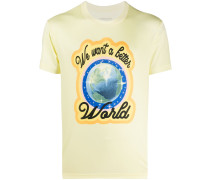 "T-Shirt mit ""We Want a Better World""-Print"