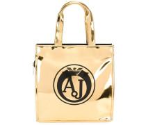 Kleine Handtasche mit Logo-Print