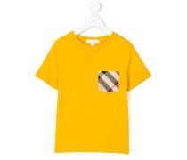 T-Shirt mit karierter Brusttasche