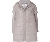 short sleeved padded jacket