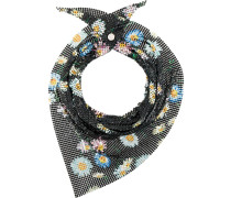 floral chainmail neck scarf