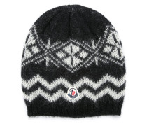 patterned beanie hat