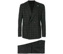 checked formal suit