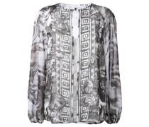 Bluse mit barockem Print - women - Polyester