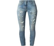 Skinny-Jeans mit Distressed-Effekt