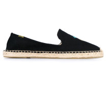 Espadrilles with Pineapple Embroidery