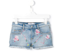 'Kiss Roses' Jeans-Shorts - kids