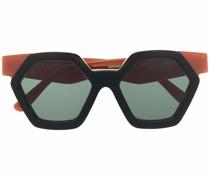 Sechseckige Christie Sonnenbrille