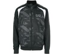 zipped camouflage sweatshirt