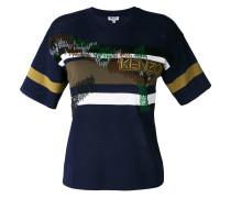 - Gestricktes T-Shirt mit Streifen - women